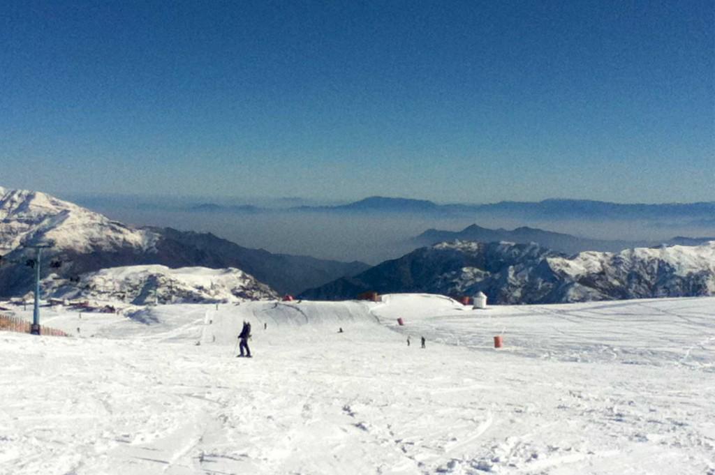 Skier à Santiago du Chili