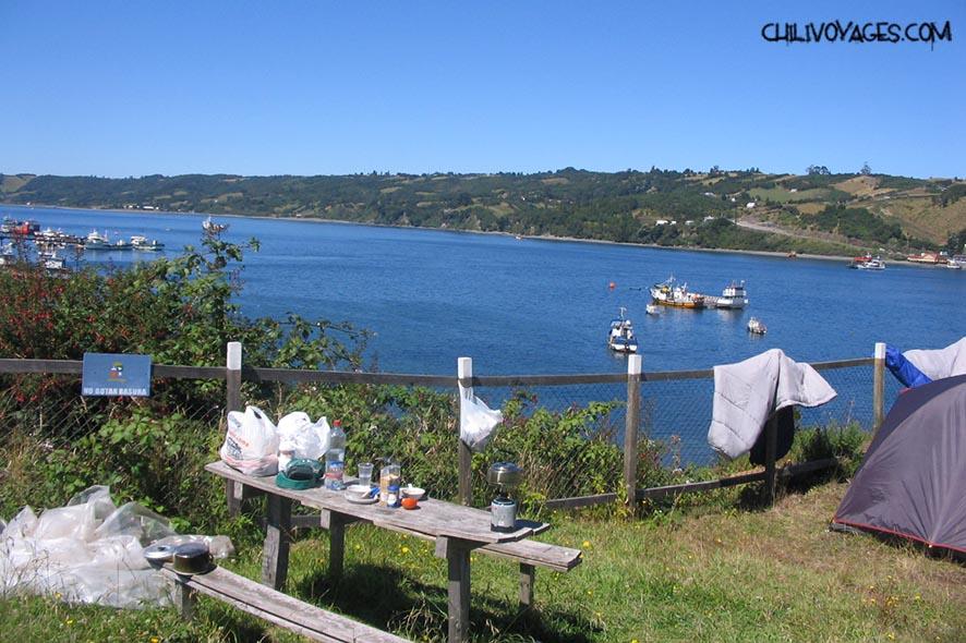 faire du camping sur l'ile de chiloe
