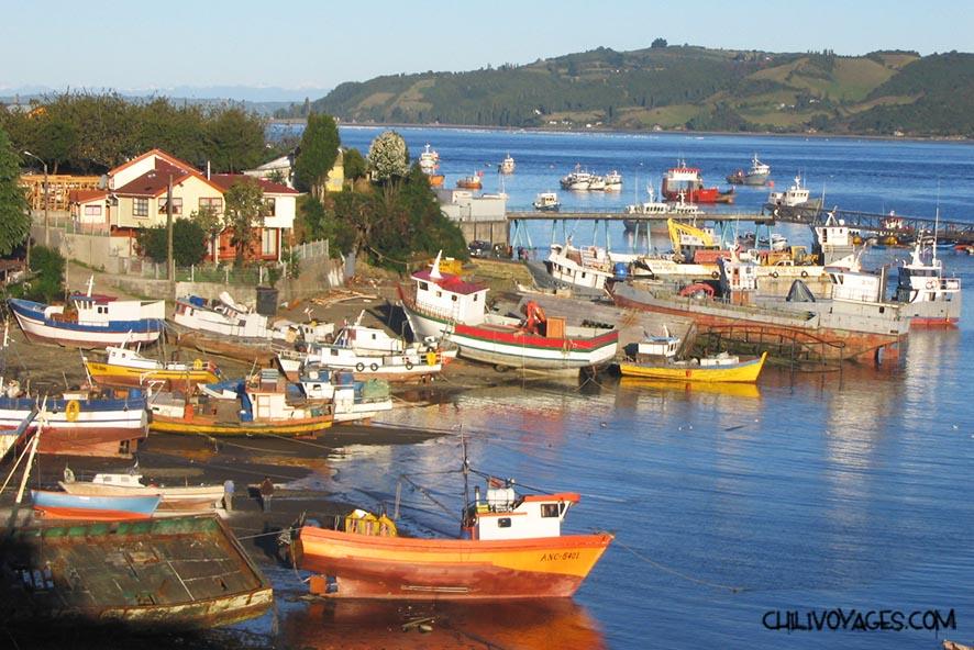 ile de chiloe bateaux