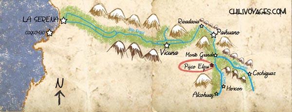 carte vallée de l'elqui