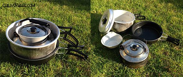 matériel de camping cuisine