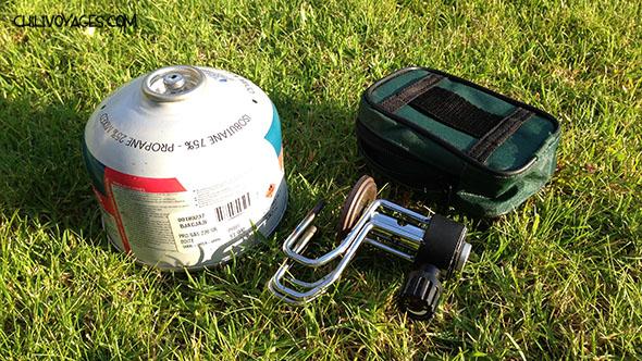 matériel de camping réchaud