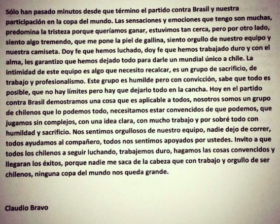 Claudio Bravo mondial
