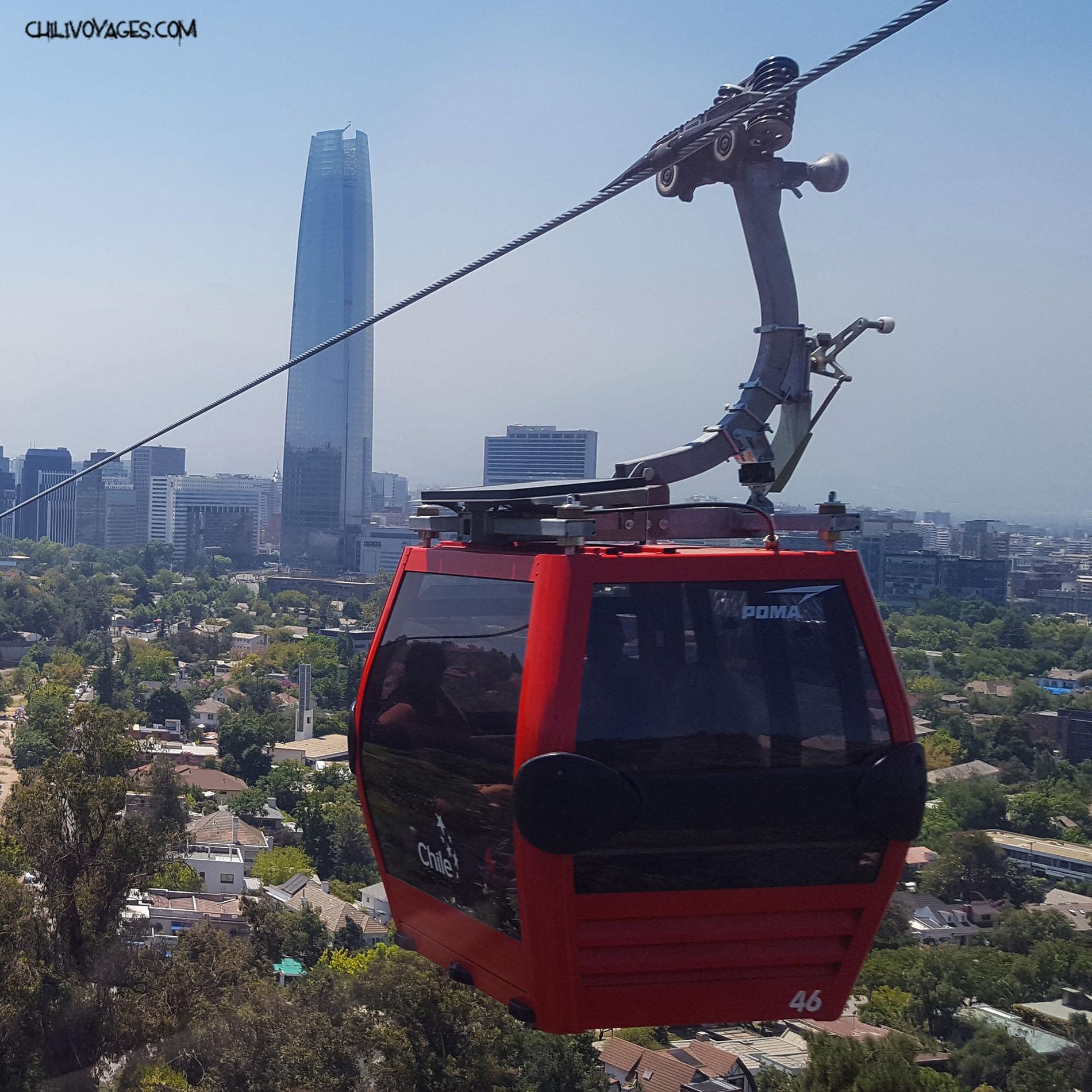 cerro san cristobal de nouveau accessible par t u00e9l u00e9cabine