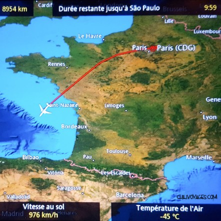 carte France avion
