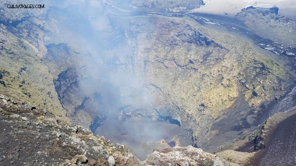 cratère volcan Villarrica